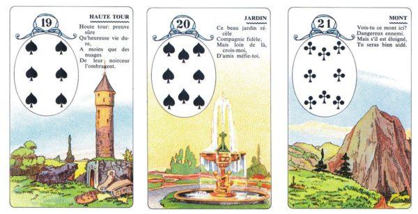 Quelques cartes du petit Lenormand Carta Mundi